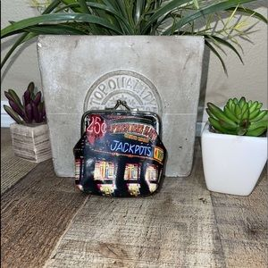 Rolfs leather keychain coin pouch Vegas jackpot